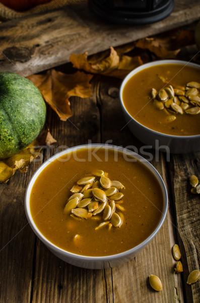 スープ カボチャ 種子 ストックフォト © Peteer