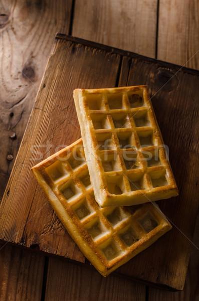 Waffles home made Stock photo © Peteer