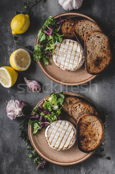 Grilled camembert cheese Stock photo © Peteer