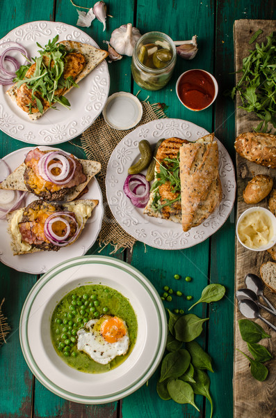 Festival alimentos día cebolla casero mayonesa Foto stock © Peteer