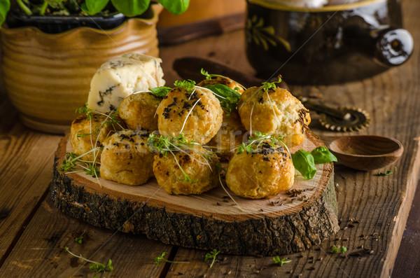 Stockfoto: Schimmelkaas · peper · gebakken · oven · heerlijk · snack