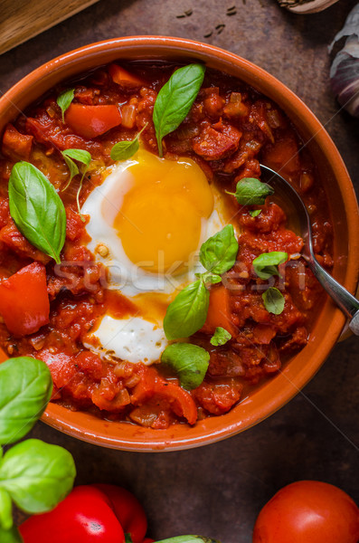 Shakshuka simple and delicious Stock photo © Peteer