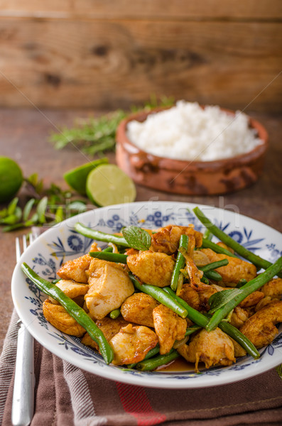 Stock photo: Stir fry chicken