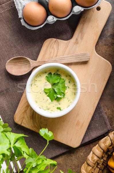 Mayonesa salsa simple delicioso plato fondo Foto stock © Peteer