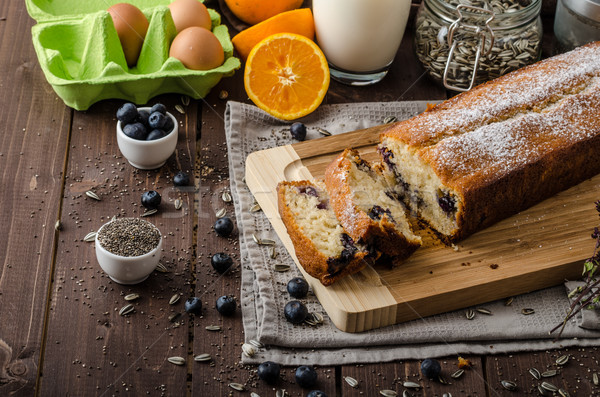 Blueberry yogurt sweet bread Stock photo © Peteer