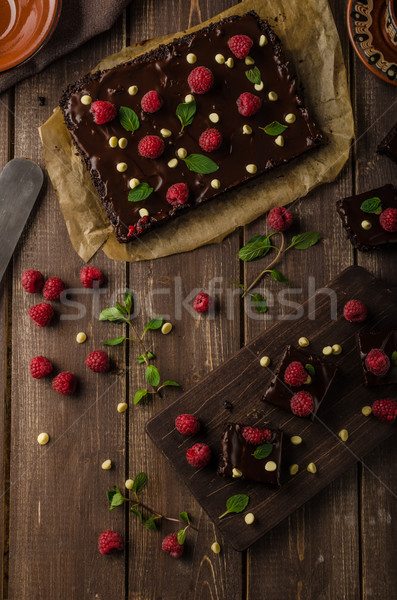 Chocolate brownies with mint Stock photo © Peteer