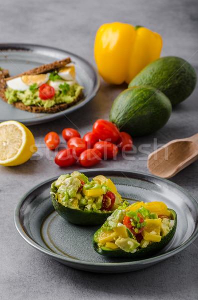 Bourré avocat légumes bio saine recette Photo stock © Peteer