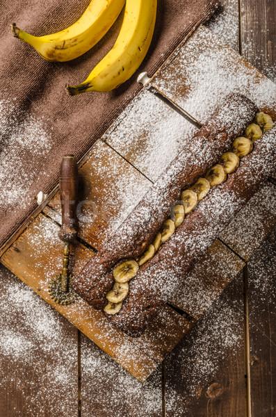 Homemade banana bread Stock photo © Peteer