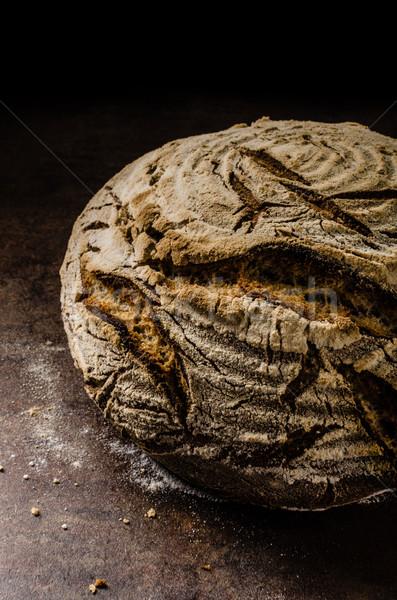 Maison pain rustique mains bois Photo stock © Peteer