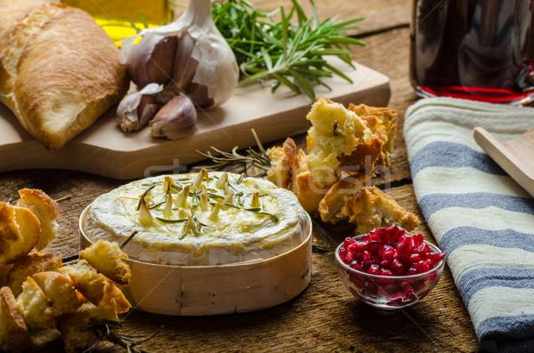 Baked Camembert with Garlic & Rosemary Stock photo © Peteer