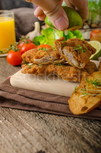 Mini cutlets - schnitzels Stock photo © Peteer