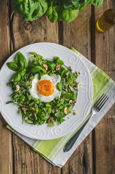 新鮮な サラダ ナッツ レーズン オリーブオイル ストックフォト © Peteer