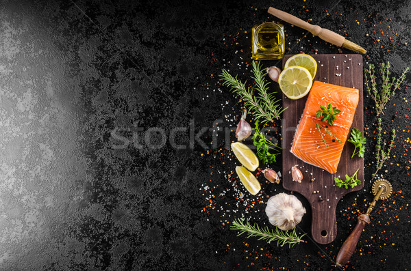 Fresh salmon fillet Stock photo © Peteer