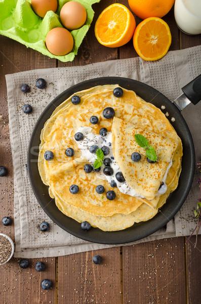 Saludable arándanos sin gluten frutas fondo Foto stock © Peteer