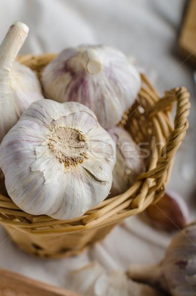 Domestic organic garlic  Stock photo © Peteer