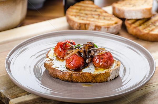 Crostini with roasted tomato  Stock photo © Peteer