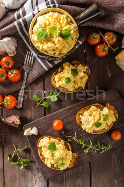 ハーブ ニンニク 焼いた パン ストックフォト © Peteer