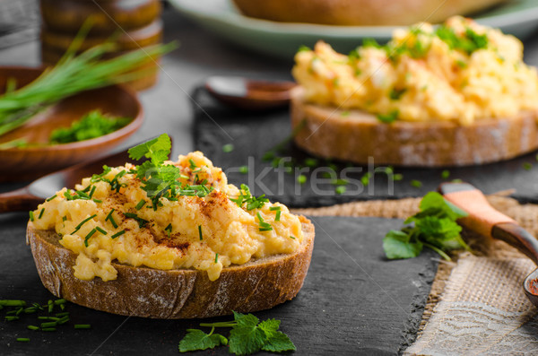 卵 唐辛子 ハーブ 食品 表 緑 ストックフォト © Peteer
