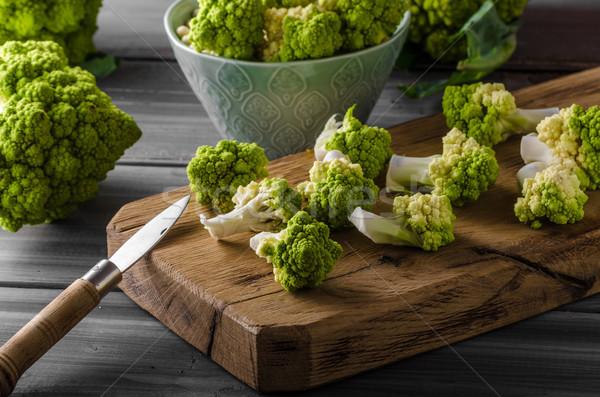 Yeşil karnabahar biyo sebze hazır pişirme Stok fotoğraf © Peteer