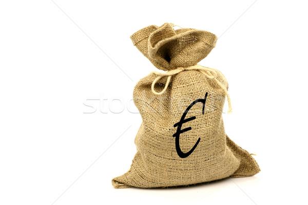 евро знак белый текстуры банка Сток-фото © peter_zijlstra