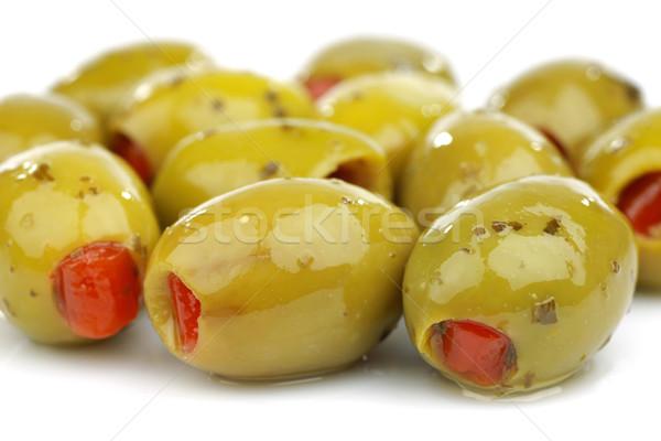 фаршированный зеленый оливками белый нефть Сток-фото © peter_zijlstra