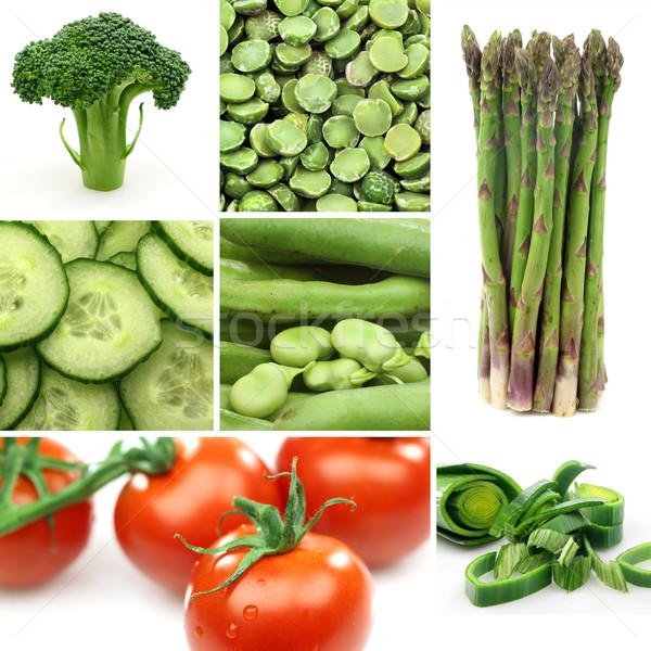 カラフル 野菜 背景 白 農業 新鮮な ストックフォト © peter_zijlstra