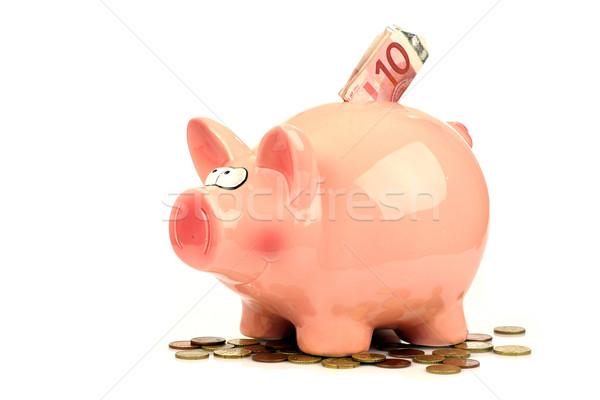 розовый Piggy Bank деньги бизнеса банка свинья Сток-фото © peter_zijlstra