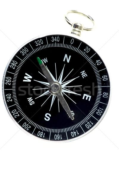 компас белый поиск инструментом походов концепция Сток-фото © peter_zijlstra