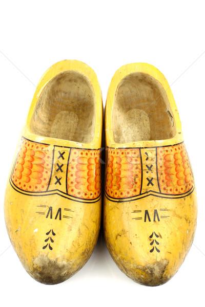 пару традиционный голландский желтый обувь Сток-фото © peter_zijlstra