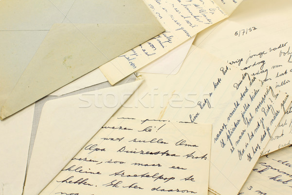 Oude brieven bos familie vrienden contact Stockfoto © peter_zijlstra