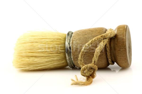 öreg fából készült ecset fehér szerszám antik Stock fotó © peter_zijlstra