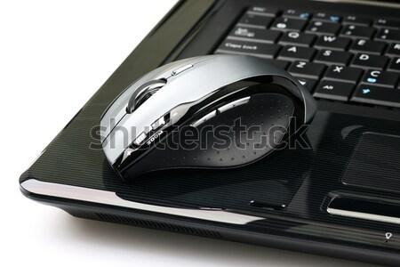 Draadloze muis laptop witte computer technologie Stockfoto © peter_zijlstra