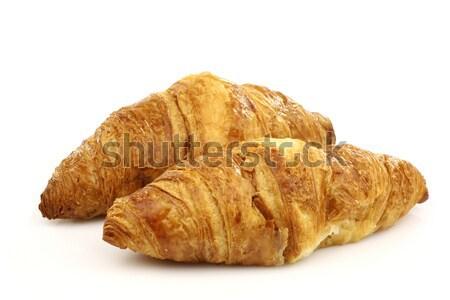 2 クロワッサン 白 食品 ストックフォト © peter_zijlstra
