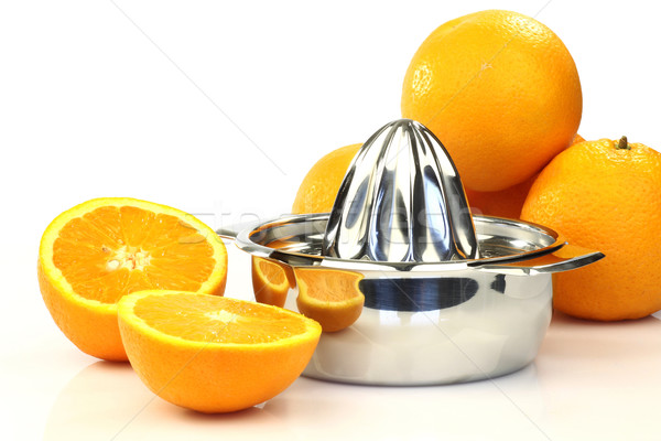 Modern fém citrus sajtó vág narancs Stock fotó © peter_zijlstra