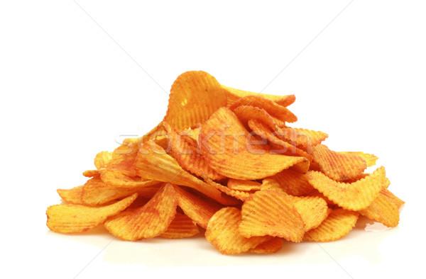 Piros paprika sültkrumpli fehér krumpli falatozó finom Stock fotó © peter_zijlstra