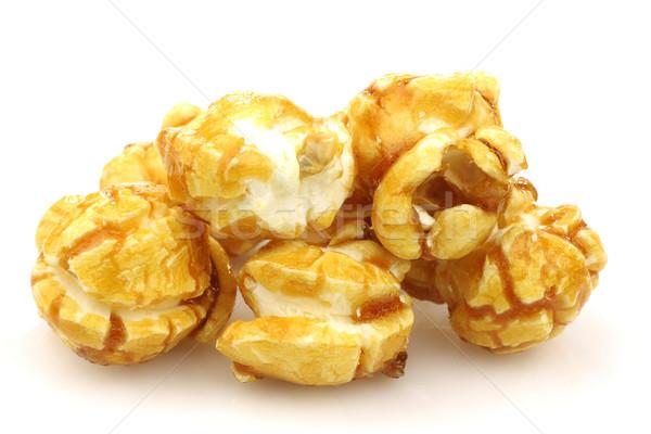 частей попкорн белый кукурузы десерта Сток-фото © peter_zijlstra