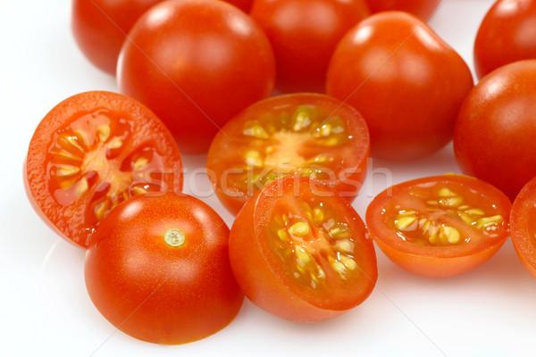 свежие все помидоры черри белый красный Вишневое Сток-фото © peter_zijlstra