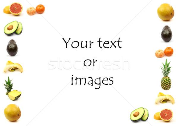 Vruchten grens kamer tekst achtergrond Stockfoto © peter_zijlstra