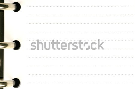 Blank page of an agenda Stock photo © peter_zijlstra