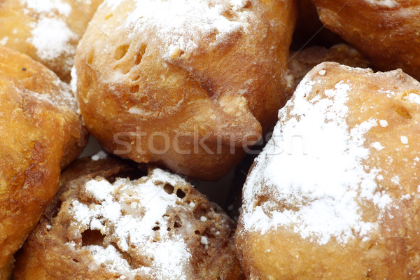 traditional dutch oliebollen with powdered sugar Stock photo © peter_zijlstra