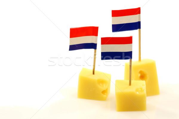 блоки голландский сыра лоток флаг Сток-фото © peter_zijlstra
