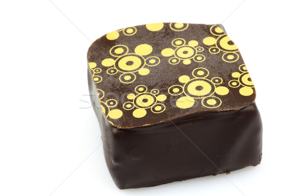 украшенный роскошь шоколадом белый конфеты Сток-фото © peter_zijlstra