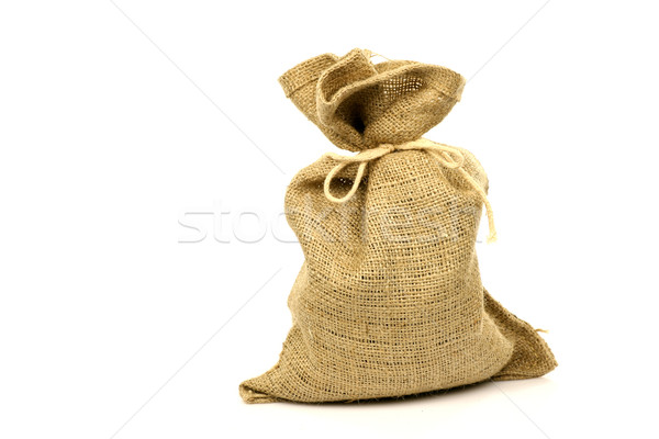 brown burlap sack Stock photo © peter_zijlstra