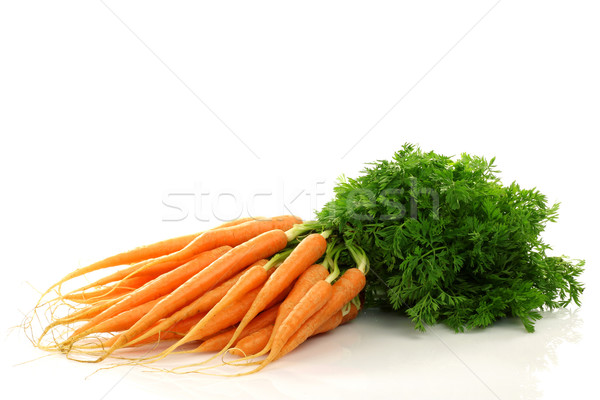 freshly harvested bunch of carrots Stock photo © peter_zijlstra
