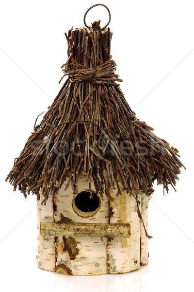 Fából készült textúra tavasz madarak lyuk fészek Stock fotó © peter_zijlstra