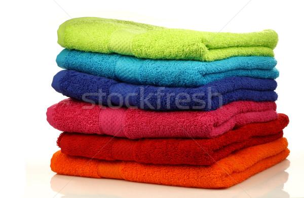 Kleurrijk handdoeken witte oranje tools Stockfoto © peter_zijlstra