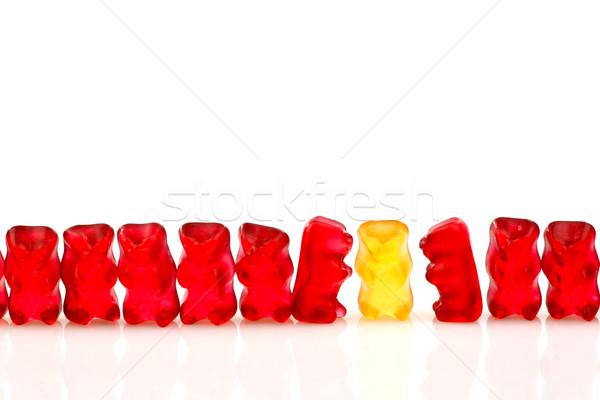 Rojo amarillo uno aislado Foto stock © peter_zijlstra