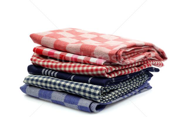 Kleurrijk keuken handdoeken witte Rood Stockfoto © peter_zijlstra