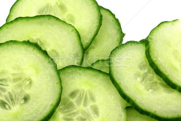 Vers komkommer witte salade plantaardige Stockfoto © peter_zijlstra