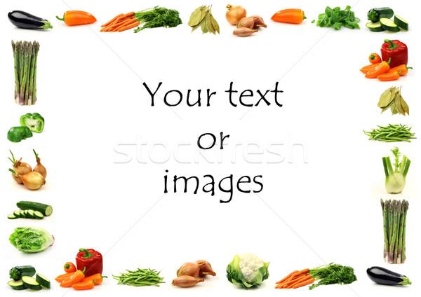 Plantaardige grens kamer tekst witte Stockfoto © peter_zijlstra